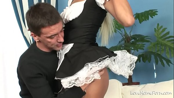 Beauty in black stockings is sucking and riding Thumb