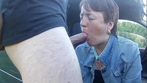 ugly woman sucks cock and drinks cum