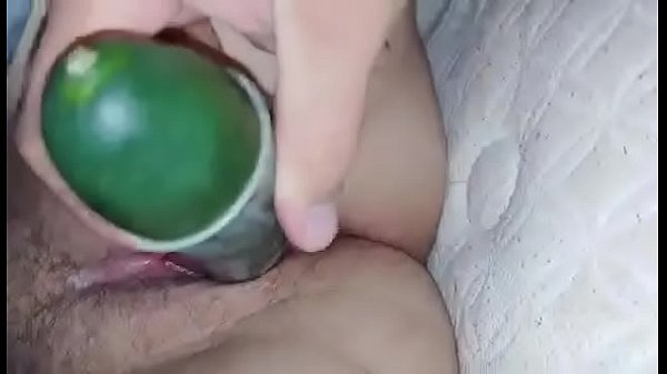 Getting fucked with cucumber