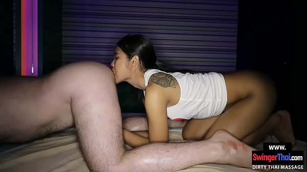Thai massage teen gives the full service to tou...