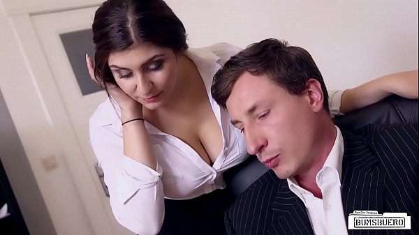 BUMS BUERO - Boss fucks busty German secretary and cums on her big tits Thumb