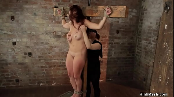 Busty bound MILF lesbian whipped