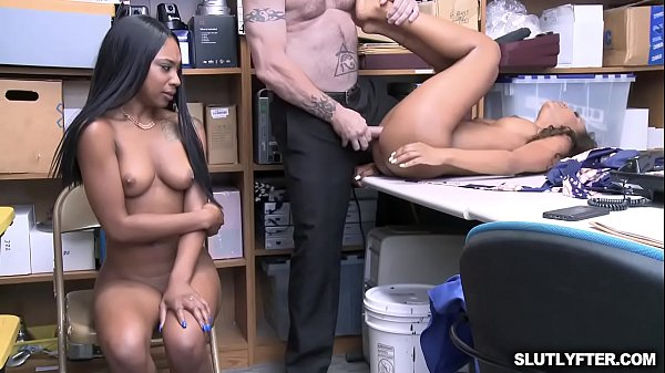 Demi Sutra and Lala Ivery taking turns getting romp by that white cock