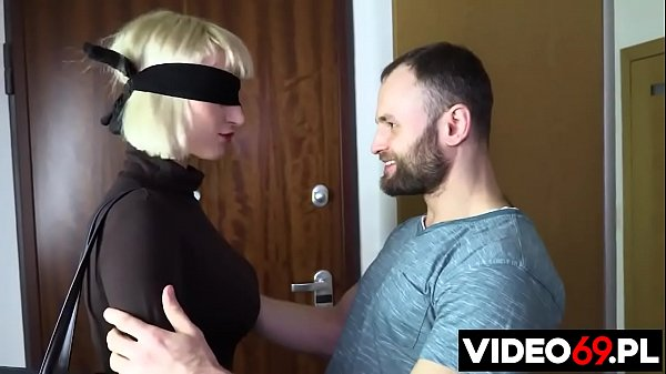 Polish porn - Short haired blonde curator with big boobs is fucked by three men
