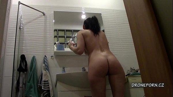 Fine ass Karolína in the bathroom