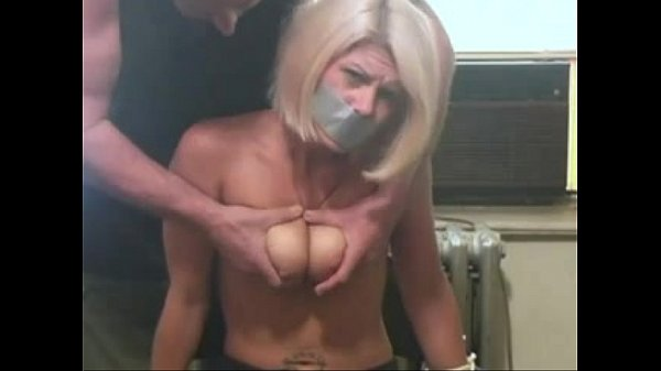 xhamster.com 1266436 blonde girl bound on a chair and getting titslapped Thumb