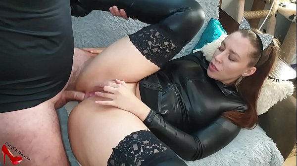 Passionate Sex with Gorgeous Brunette - Cum in Mouth