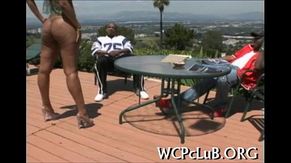 Leggy playgirl drilled well