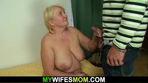 Taboo sex with busty old m.-in-law