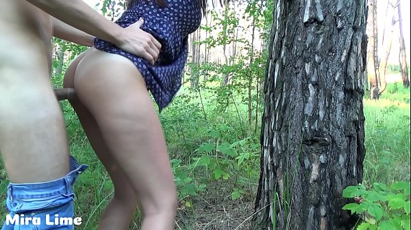 Public sex.Tiny teen fucks in the park with str...