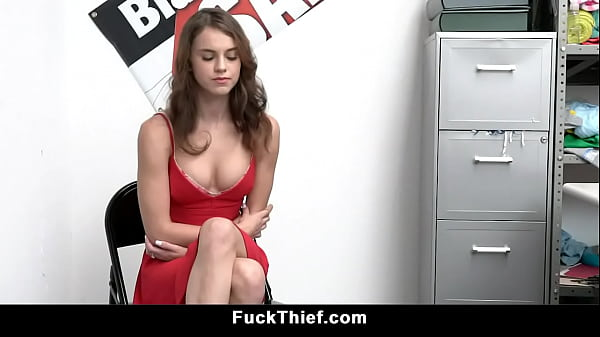 Small Tits Shoplifter Fucked by Mall Officer