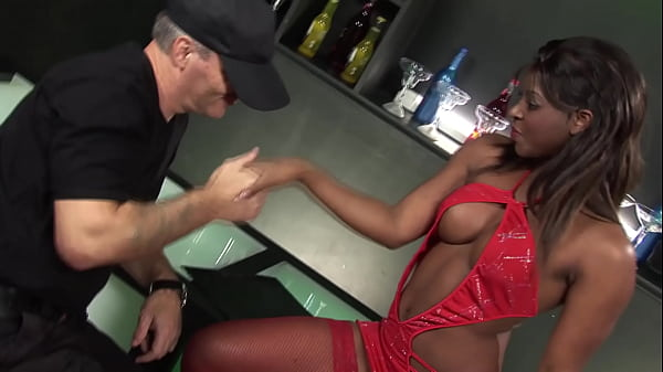 Big booty ebony stripper gets fucked in white client in the club