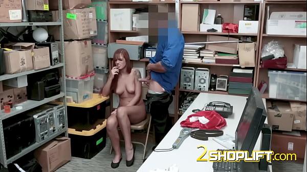 Petite thief has hardcore sex with nasty guard Thumb