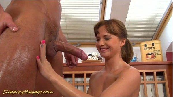 slippery nuru massage with happy end