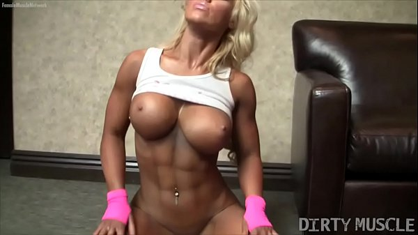 Naked Female Bodybuilder Megan Avalon Is A Sexy Show Off