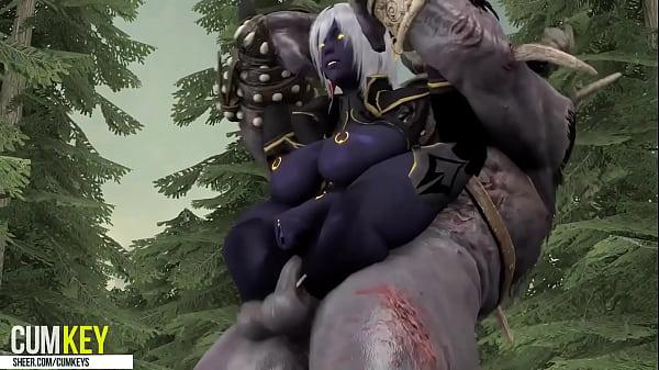 SFM black ELF SITTING ON THE WRONG MUSHROOM Monster FUCK 3D Hentai Cartoon