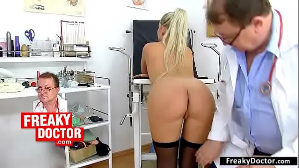 Old with young vagina check-up with European hottie Uma Zex