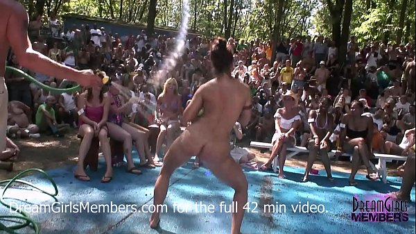 No Rules Wet T-shirt Contest At A Nudist Resort