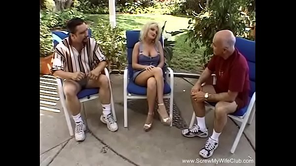 Swinger Threesome Outside In The Pool Thumb