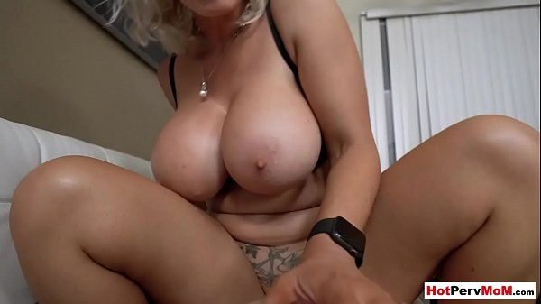 Russian MILF stepmom cheers up son with inked her pussy