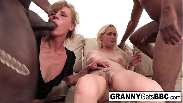 A couple of horny grannies get fucked in the ass by BBC Thumb