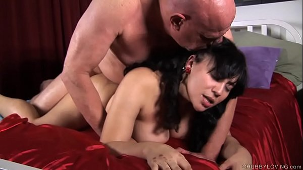 Kinky chubby brunette loves a hard fucking and a facial cumshot