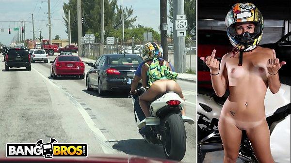 BANGBROS - Big Booty Latin Babe Sophia Steele Rides A Motorcycle & A Cock