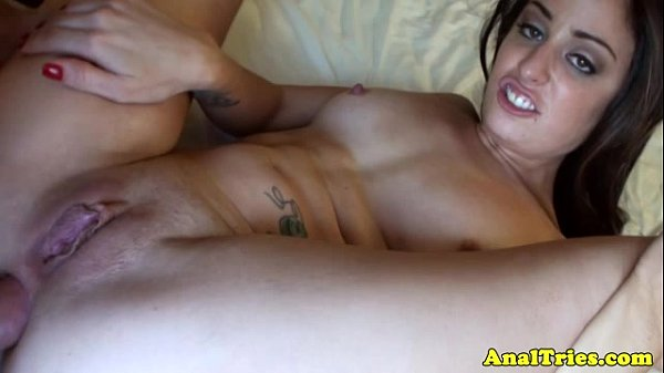 Anal loving amateur gets ass drilled