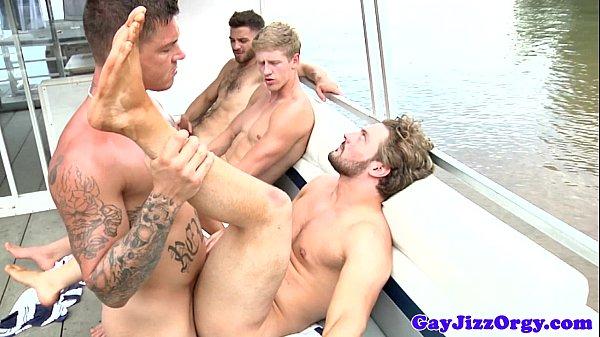Gay sailors enjoying flesh picinic