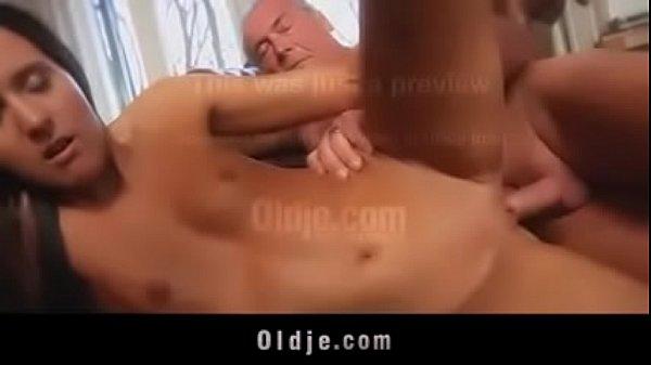 Grandpa licking pussy fucking hard