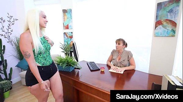 Thick Lesbians Sara Jay & Alexis Andrews Cum Tongue Fucking!