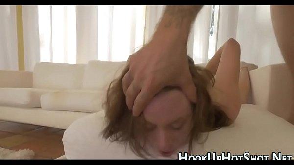 Tiny amateur throat fucks