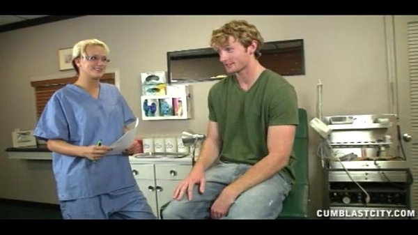 Sexy Doctor Causes A Huge CUmshot