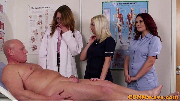 Spex dom CFNM doctor blowing patients cock