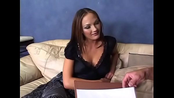 Hot girl in black boots fucked in the couch