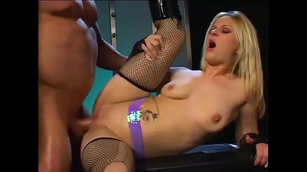 Well-set man penetrates juicy blonde striptease...