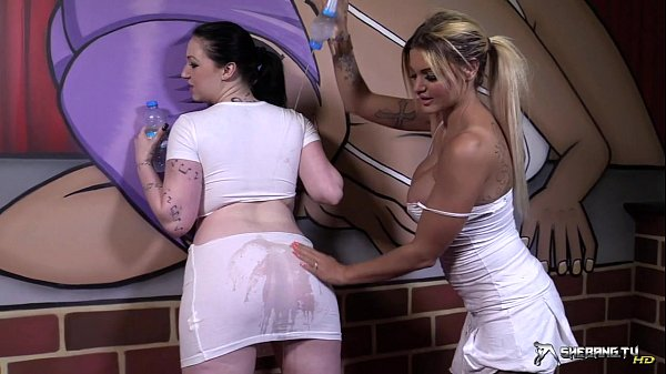 Two sexy lesbians going wild after wet t-shirt play Thumb