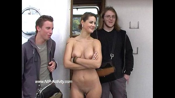 Hot Maria naked in public