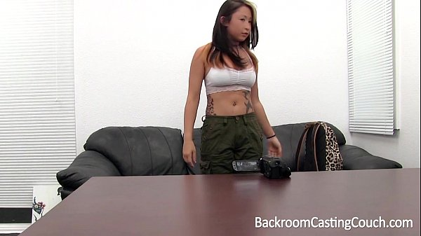 Anal Loving Vietnamese-German Military Girl on Casting Couch