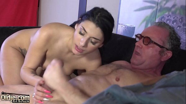 Krystal gets pussy fucked by old dong and swallows juicy cum