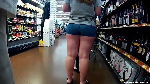 Candid - Pawg Ass Stuffed in Short Shorts
