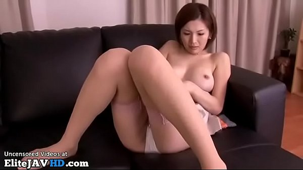 Japanese busty Milf cumshotted on her sexy legs