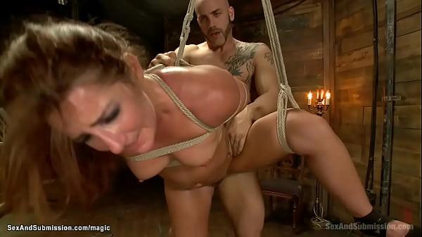 Curvy bound slave rough fucked