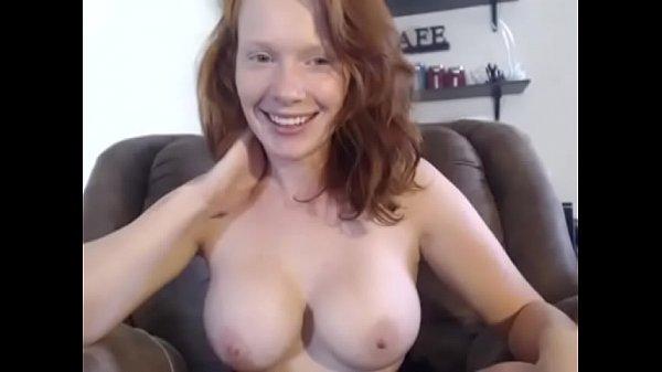 Hot Busty Redhead Has Dirty Feet on Cam - CamGirlsUntamed.com
