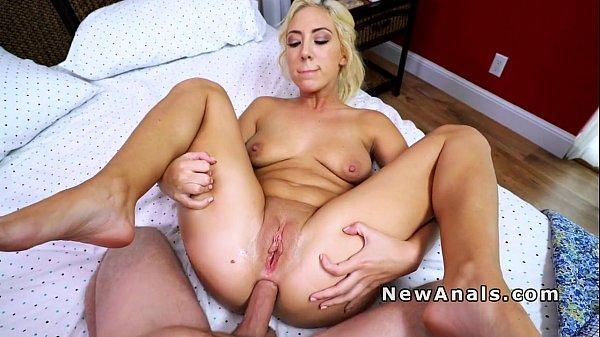 Hot blonde anal banged after pool fun