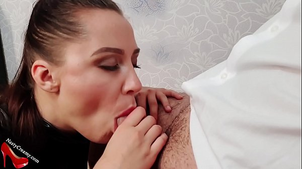 Sexy Girl In Latex Costume Blowjob Dick Hostage and Cum in Mouth