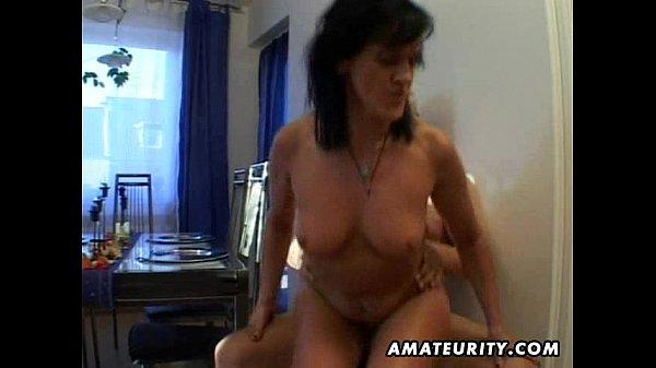 Mature amateur wife sucks and fucks with facial cumshot