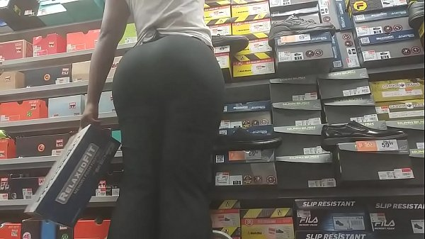 Ebony In Slacks With Round Bubble Booty Cheeks Part 3 HD