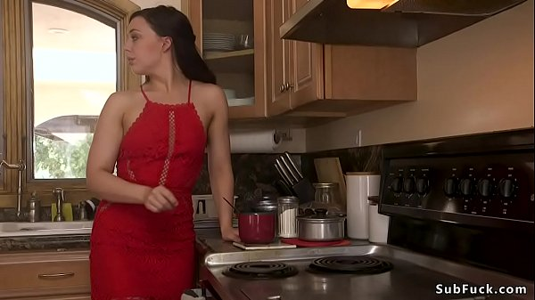 Tied limbs brunette is anal fucked Thumb