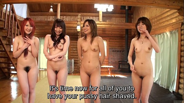 Subtitled uncensored Japanese amateurs pubic hair shaving Thumb